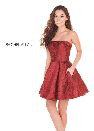 Rachel Allan 4017 prom dress images.  Rachel Allan 4017 is available in these colors: Marsala,Royal,Yellow.