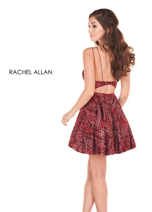 Rachel Allan 4020 prom dress images.  Rachel Allan 4020 is available in these colors: Marsala ,Hunter Green.