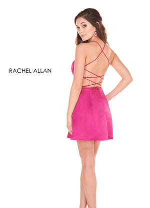 Rachel Allan 4021 prom dress images.  Rachel Allan 4021 is available in these colors: Deep Fuchsia,Royal.
