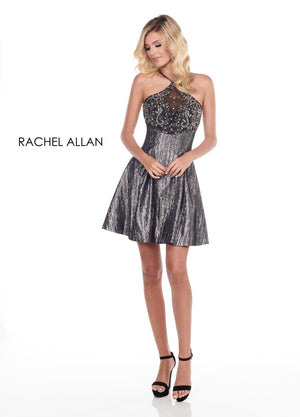 Rachel Allan 4029 prom dress images.  Rachel Allan 4029 is available in these colors: Deep Royal,Gunmetal.