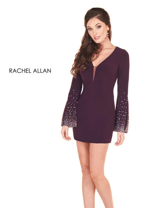 Rachel Allan 4030 prom dress images.  Rachel Allan 4030 is available in these colors: Black,Black Cherry.