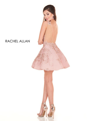 Rachel Allan 4032 prom dress images.  Rachel Allan 4032 is available in these colors: Black,Rose Gold.