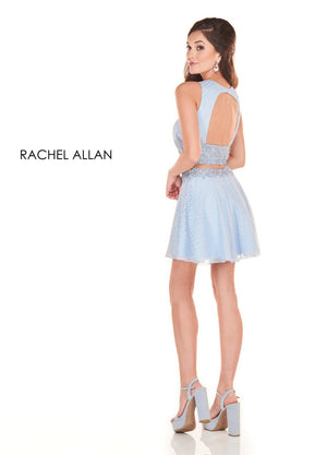Rachel Allan 4036 prom dress images.  Rachel Allan 4036 is available in these colors: Black,Powder Blue .