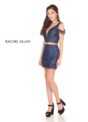 Rachel Allan 4038 prom dress images.  Rachel Allan 4038 is available in these colors: Gunmetal,Navy.