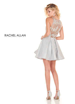 Rachel Allan 4045 prom dress images.  Rachel Allan 4045 is available in these colors: Royal,Silver.