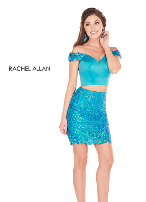 Rachel Allan 4048 prom dress images.  Rachel Allan 4048 is available in these colors: Iridescent Royal,Iridescent Turquoise.