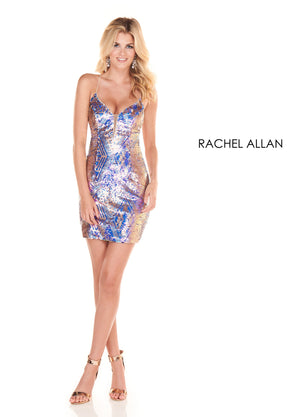 Rachel Allan 4049 prom dress images.  Rachel Allan 4049 is available in these colors: Champagne ,Periwinkle.