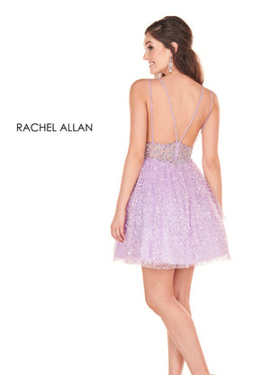 Rachel Allan 4050 prom dress images.  Rachel Allan 4050 is available in these colors: Blush,Lilac.
