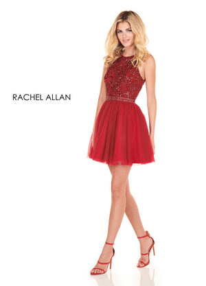 Rachel Allan 4054 prom dress images.  Rachel Allan 4054 is available in these colors: Yellow,Marsala.
