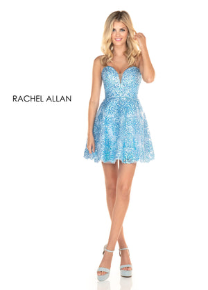 Rachel Allan 4058 prom dress images.  Rachel Allan 4058 is available in these colors: Pink Coral,Periwinkle.