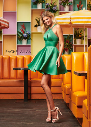 Rachel Allan 4061 prom dress images.  Rachel Allan 4061 is available in these colors: Red,Royal,Deep Emerald.
