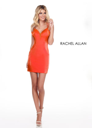 Rachel Allan 4067 prom dress images.  Rachel Allan 4067 is available in these colors: Fuchsia,Turquoise,Acid Green,Tangerine.