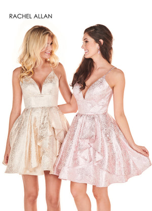 Rachel Allan 4070 prom dress images.  Rachel Allan 4070 is available in these colors: Pink,Gold.