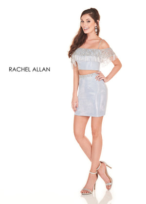 Rachel Allan 4072 prom dress images.  Rachel Allan 4072 is available in these colors: Blush Silver,Ice Blue Silver.