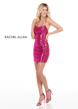 Rachel Allan 4073 prom dress images.  Rachel Allan 4073 is available in these colors: Rose Gold,Fuchsia,Gold  .