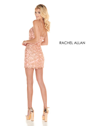 Rachel Allan 4076 prom dress images.  Rachel Allan 4076 is available in these colors: Rose Gold,Navy.