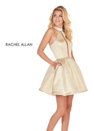 Rachel Allan 4080 prom dress images.  Rachel Allan 4080 is available in these colors: Gold,Rose Pink.