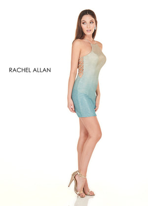 Rachel Allan 4088 prom dress images.  Rachel Allan 4088 is available in these colors: Turquoise Gold Ombre,Burgundy Silver Ombre.