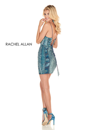 Rachel Allan 4089 prom dress images.  Rachel Allan 4089 is available in these colors: Teal,Red.