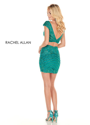 Rachel Allan 4093 prom dress images.  Rachel Allan 4093 is available in these colors: Deep Jade ,Rose Gold.