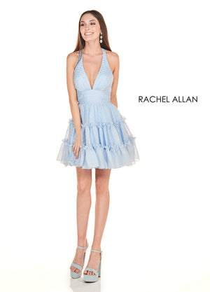 Rachel Allan 4112 prom dress images.  Rachel Allan 4112 is available in these colors: Black Silver,Sky Blue Silver.