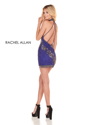 Rachel Allan 4114 prom dress images.  Rachel Allan 4114 is available in these colors: Royal Gunmetal,Light Gold.