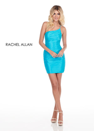 Rachel Allan 4119 prom dress images.  Rachel Allan 4119 is available in these colors: Ocean Blue,Yellow,Bright Coral.