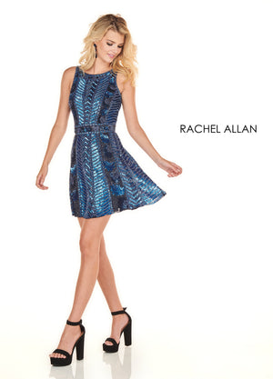 Rachel Allan 4130 prom dress images.  Rachel Allan 4130 is available in these colors: Rose Gold,Navy.