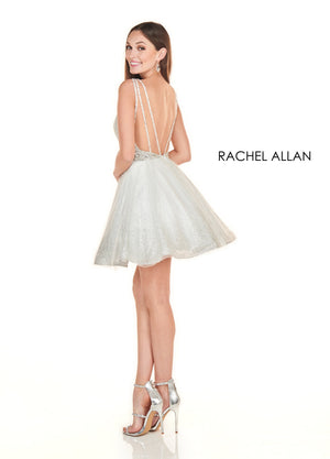 Rachel Allan 4132 prom dress images.  Rachel Allan 4132 is available in these colors: White Silver,Jade.