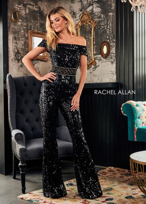 Rachel Allan 4147 prom dress images.  Rachel Allan 4147 is available in these colors: Gold,Black.
