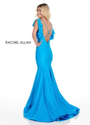 Rachel Allan 4150 prom dress images.  Rachel Allan 4150 is available in these colors: Yellow,Ocean Blue,Hot Coral,Red.