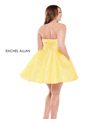 Rachel Allan 4825 prom dress images.  Rachel Allan 4825 is available in these colors: Royal,Red,Yellow.