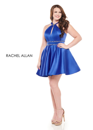 Rachel Allan 4827 prom dress images.  Rachel Allan 4827 is available in these colors: Royal,Red,Emerald.