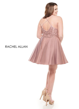 Rachel Allan 4829 prom dress images.  Rachel Allan 4829 is available in these colors: Deep Rose Gold,Gunmetal.