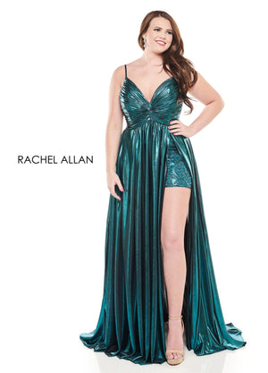 Rachel Allan 4831 prom dress images.  Rachel Allan 4831 is available in these colors: Rose Gold,Dark Teal,Burgundy.