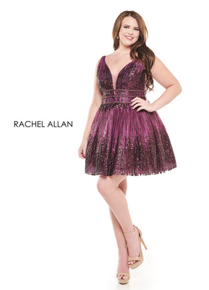 Rachel Allan 4832 prom dress images.  Rachel Allan 4832 is available in these colors: Black Cherry,Gunmetal.