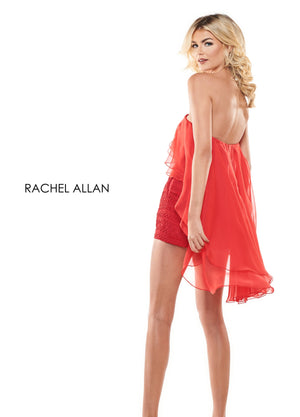 Rachel Allan L1237 prom dress images.  Rachel Allan L1237 is available in these colors: Black,Red,White.