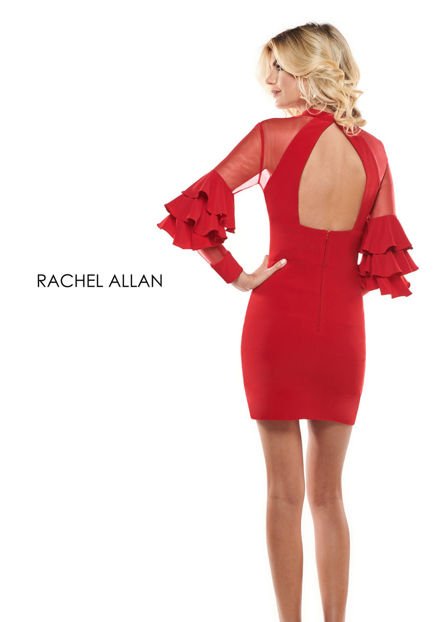Rachel Allan L1240 prom dress images.  Rachel Allan L1240 is available in these colors: Black,Red,White.