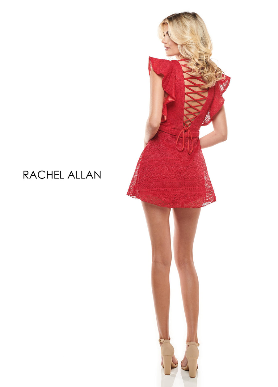 Rachel Allan L1242 prom dress images.  Rachel Allan L1242 is available in these colors: Black,Red,White.