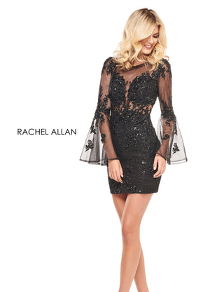 Rachel Allan L1245 prom dress images.  Rachel Allan L1245 is available in these colors: Black,Red,White.