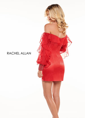 Rachel Allan L1252 prom dress images.  Rachel Allan L1252 is available in these colors: Black,Red,White.