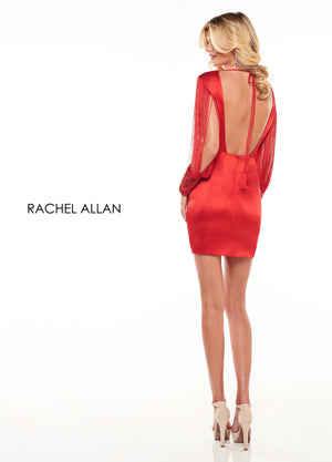 Rachel Allan L1256 prom dress images.  Rachel Allan L1256 is available in these colors: Black,Red,White.