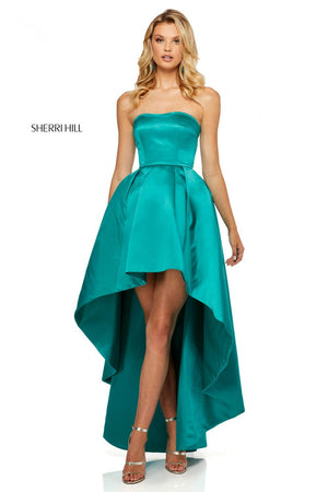 Sherri Hill 52114 prom dress images.  Sherri Hill 52114 is available in these colors: Yellow, Red, Turquoise, Emerald, Fuchsia, Royal, Ivory, Light Blue, Light Pink.