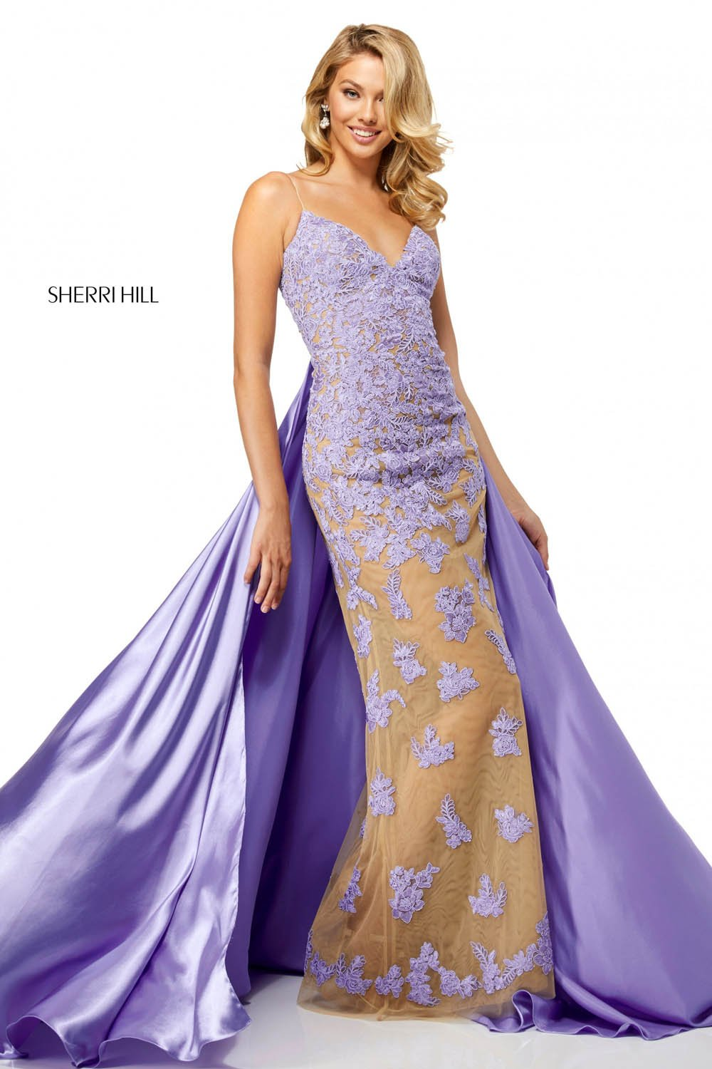 Sherri Hill 52538 prom dress images.  Sherri Hill 52538 is available in these colors: Nude Red, Nude Black, Nude Ivory, Nude Lilac, Nude Magenta, Nude Light Blue, Nude Teal, Nude Wine, Nude Aqua.