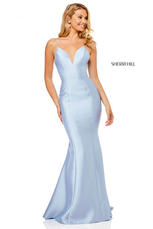 Sherri Hill 52545 prom dress images.  Sherri Hill 52545 is available in these colors: Red, Black, Light Blue, Ivory, Blush, Yellow.