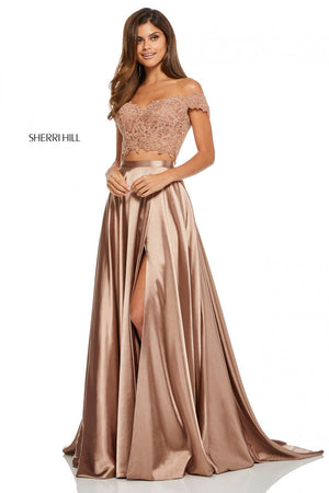 Sherri Hill 52567 prom dress images.  Sherri Hill 52567 is available in these colors: Ivory, Red, Black, Orange, Eggplant, Rose, Teal, Peacock, Mocha, Yellow.