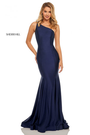 Sherri Hill 52781 prom dress images.  Sherri Hill 52781 is available in these colors: Black, Wine, Royal, Red, Navy, Berry, Blush, Yellow, Orchid, Light Blue.
