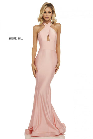 Sherri Hill 52784 prom dress images.  Sherri Hill 52784 is available in these colors: Navy, Red, Yellow, Blush, Berry, Black, Orchid, Light Blue, Wine, Royal.