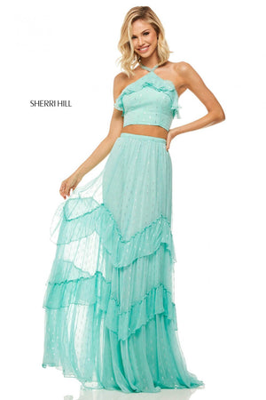 Sherri Hill 52798 prom dress images.  Sherri Hill 52798 is available in these colors: Black, Aqua, Yellow, Light Blue, Lilac, Ivory, Navy, Fuchsia, Emerald, Light Pink, Turquoise, Orange, Red.