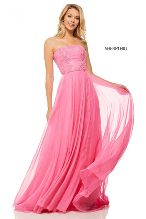 Sherri Hill 52822 prom dress images.  Sherri Hill 52822 is available in these colors: Teal, Peacock, Light Blue, Lilac, Dreamcicle, Candy Pink, Yellow, Nude.